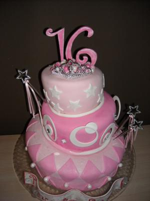 cake boss cakes for sweet 16. Sweet White-Pink 16 Birthday
